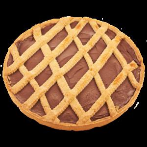 Crostata classica rotonda al cioccolato