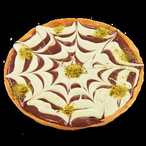 Crostata bigusto moderna pistacchio e cioccolata