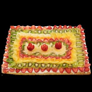 Crostata rettangolare di frutta fresca di stagione